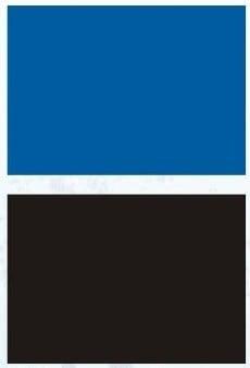 Aqua Nova Плакат двустранен черно и синьо; Н-30см; Н-50см; Н-60см