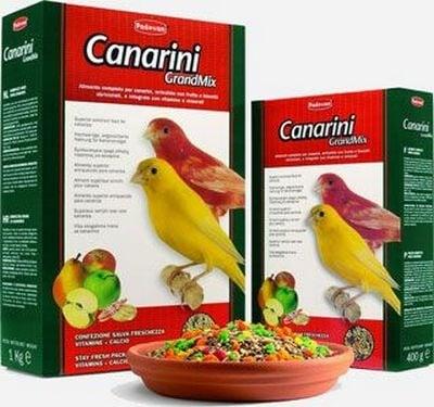 Пълноценна храна за канарчета с плодове Padovan - 0.400кг; 1.00кг