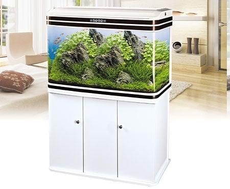 Sobo AA 1200F - аквариум с капак, осветление и дънен филтър