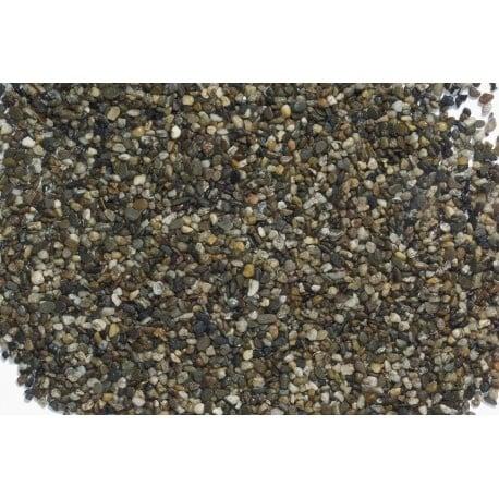 Естествен тъмен грунд за аквариум (3 - 6 мм.)