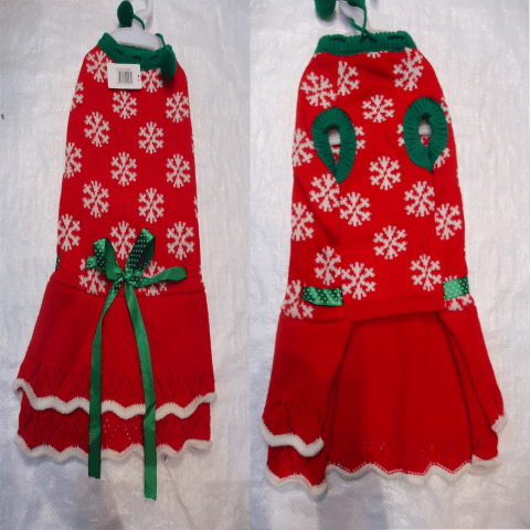 Плетена рокля на снежинки