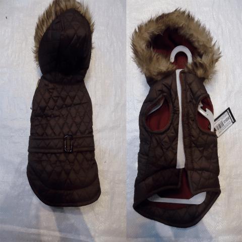 Яке с колан и качулка , шушляк и полар , със залепване