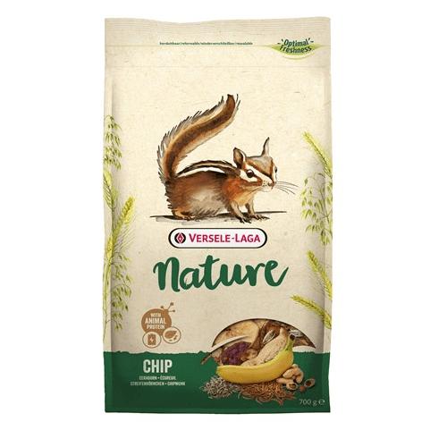 Versale-Laga Chip Nature 700гр - Пълноценна храна, адаптирана към специфичните нужди на катерицата и на американската катерица
