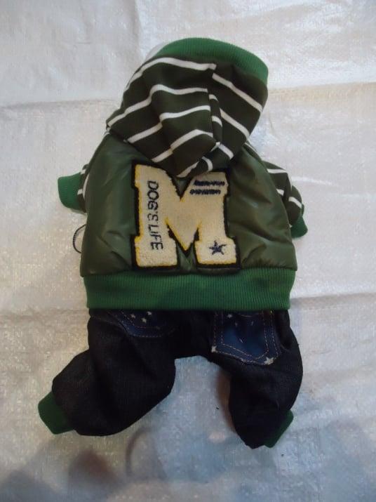 Яке зелено с качулка и крачоли, шушляк с полар