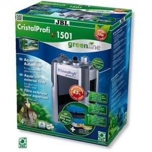JBL CristalProfi e1501 greenline /енергоспестяващ външен филтър за аквариуми от 160 до 600л/-20x23,5x47,5см
