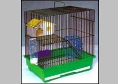 Двуетажна клетка за хамстери с тунели