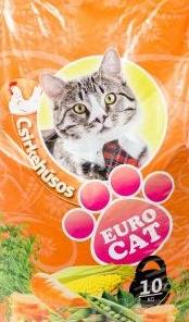 Храна за котки с пилешко месо EURO CAT 10кг