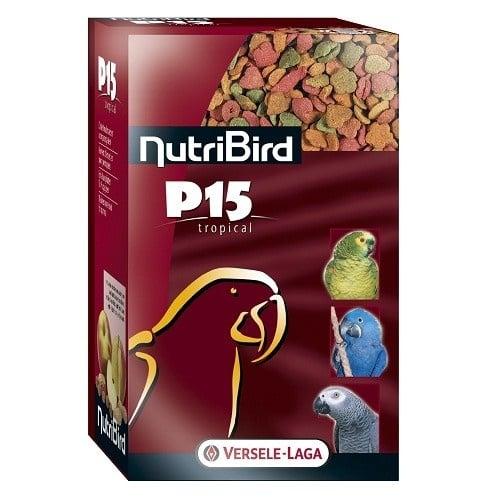 Versele-Laga NutriBird P15 Tropical /пълноценна екструдирана храна за ежедневно хранене на големи папагали/-4 кг