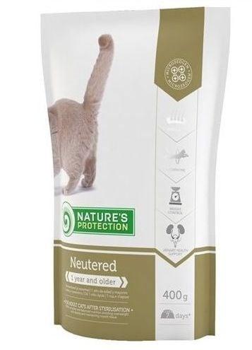 Nature`s Protection Neutered - Храна за котки с наднормено тегло - 400 гр, 2 кг, 7 кг.