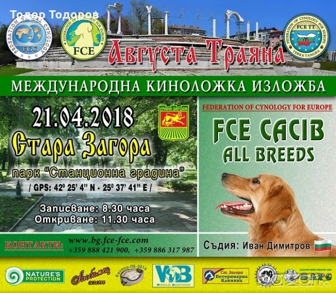 Международна изложба на кучета ще се проведе този уикенд в Стара Загора