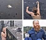 Норвежец спасява патица